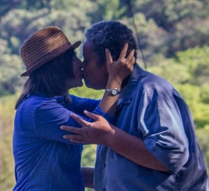 meadow kiss close