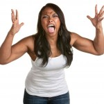 Woman with anger