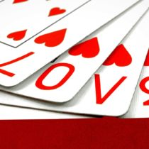12710012 - playing cards with the word love
