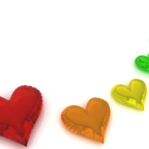 Rainbow hearts what is love